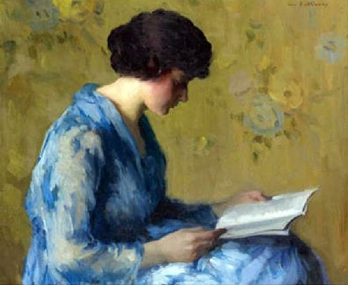 A Woman Reading by Ivan Olinsky