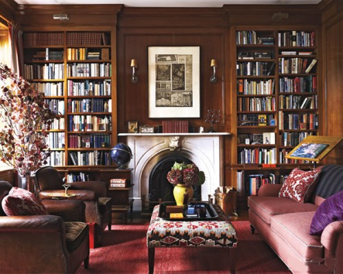 Library-Victorian-home-design-view