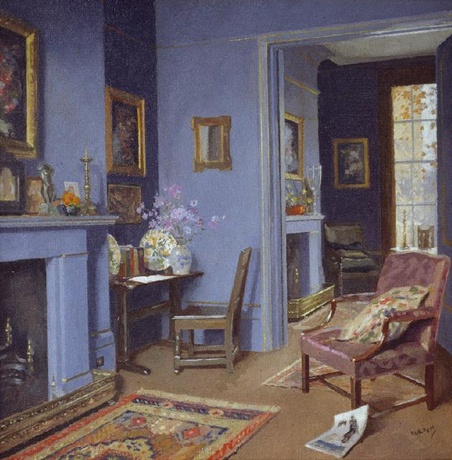 A Blue Room in Kensington by James Durden (via here