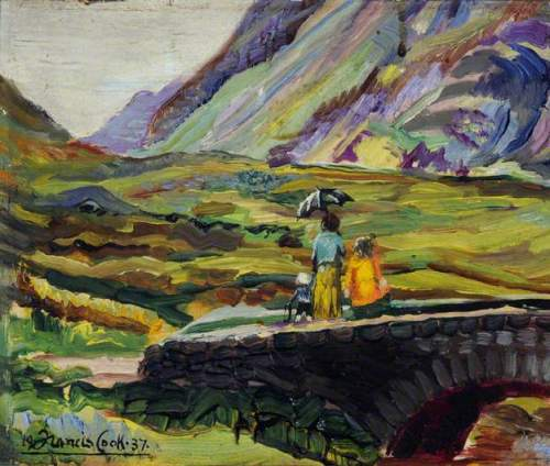 Scene in Glencoe Pass, Scotland, in the Summer of 1937 by Francis Ferdinand Maurice Cook