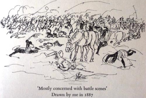 E.H. Shepard - Battle Scene