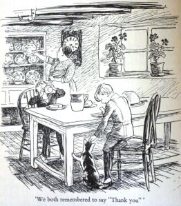 E.H. Shepard - Pollard's Farm, Breakfast