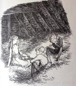 E.H. Shepard - Pollard's Farm, Hay Loft