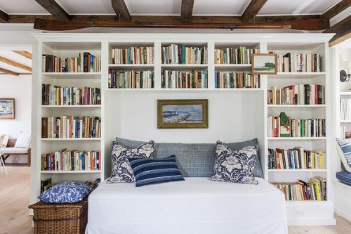 Country Traditional Library via Lonny