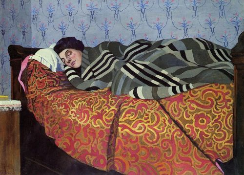 Laid Down Woman, Sleeping by Felix Vallotton