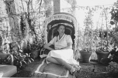 Iris Origo at La Foce in the 1930s (via www.lafoce.com)