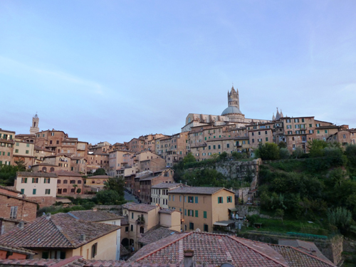View from my bedroom in Siena