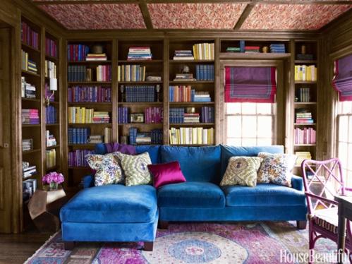 Jewel-Tone-Cozy-Library-Interior-Design
