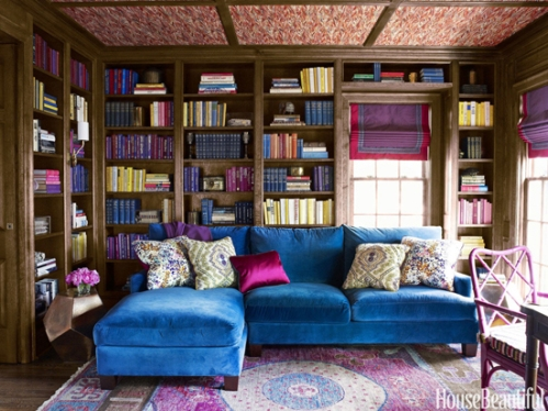 Jewel-Tone-Cozy-Library-Interior-Design