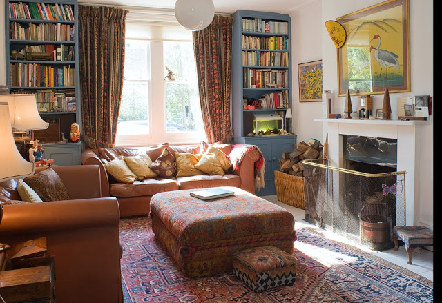 Library lust the captive reader - Eclectic living room design ideas to captive you with uniqueness ...