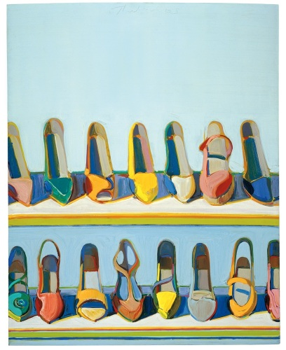 Shoe Rows by Wayne Thiebaud