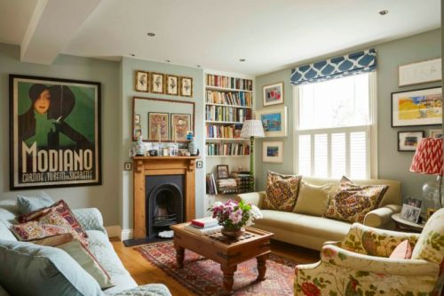 interior, London, home, English Home, artist, paintings